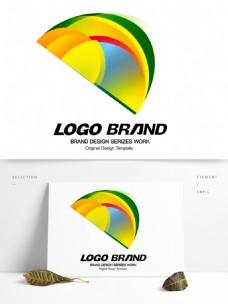 简约现代多彩色块字母D标志公司LOGO