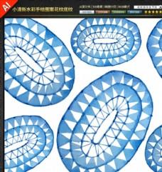 水彩手绘图案花纹底纹矢量素材