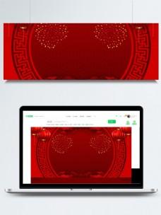 红色喜庆灯笼中国风舞台背景素材