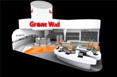 现代简约风格展厅设计模型