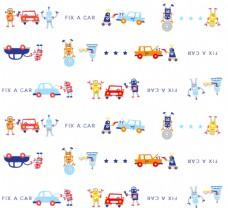 卡通小汽车机器人