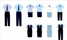 办公室男女夏季工作服