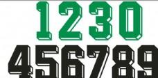 篮球服足球服数字编号