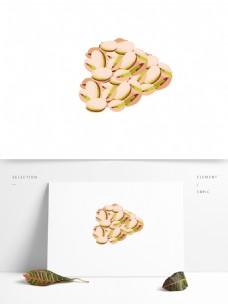 食物开心果矢量卡通坚果元素