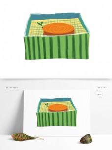 简约手绘盒子透明素材