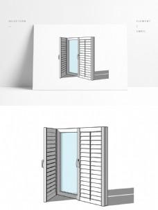 家用白色现代简约拉丝不锈钢窗户