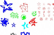 各式各样的星星