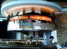 香港商场食府伏羲电壁炉巨型火焰