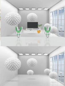3D空间圆球背景墙