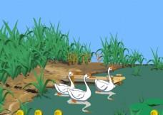语文课件咏鹅flash动画