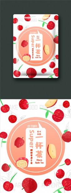 包装零食网红系茶叶包装樱桃苹果茶