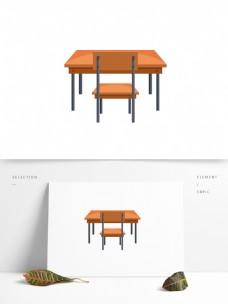 课桌教室矢量卡通元素
