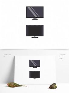 显示器电视正面和背面