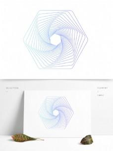 多边形扭曲旋转线条元素