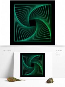 方形扭曲旋转线条元素