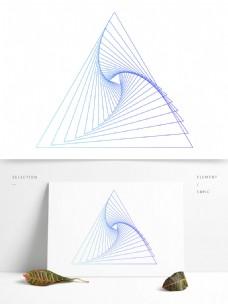 三角形扭曲旋转线条元素