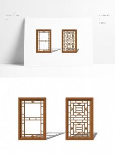 中式简约现代窗户模型