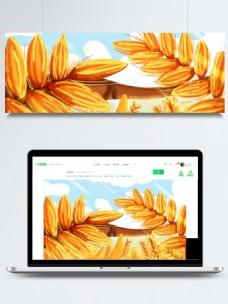 金色麦穗背景素材