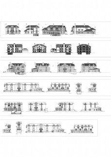 别墅建筑外立面图集