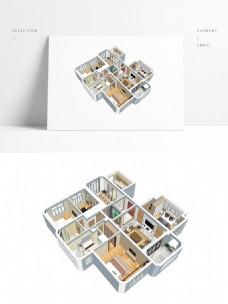 中式风格住宅设计SU透视模型