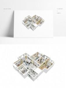 简约风格住宅设计SU模型