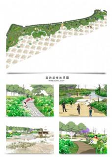 湿地景观规划SU模型