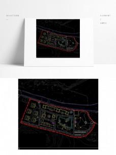 田园综合体生态园度假中心CAD方案二平面
