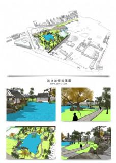 公园景观规划方案SU模型