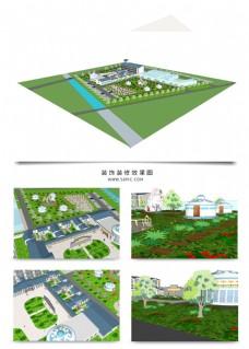 度假村景观规划SU模型