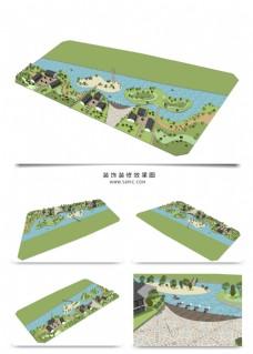 别墅景观规划SU透视模型方案