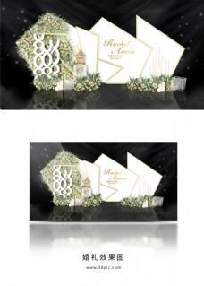 香槟墙婚礼留影区