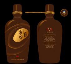 贵州茅台柔和酱香瓶身包装设计