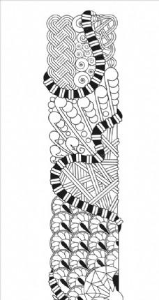 抽象创意花纹字母I