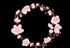 边框 花朵 矢量 欧式 花圈