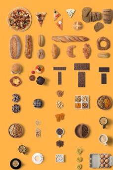 各式面包素材