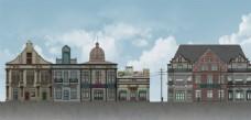 民国建筑立面图