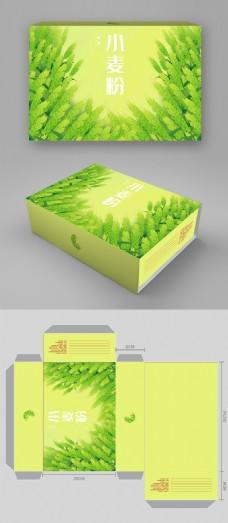 小麦粉包装盒高档小麦粉包装盒清新大气