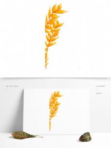 水彩小麦装饰PNG免抠图