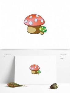 手绘装饰图案蘑菇