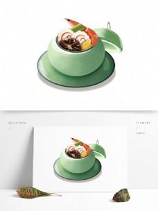 一碗美味海鲜汤图案