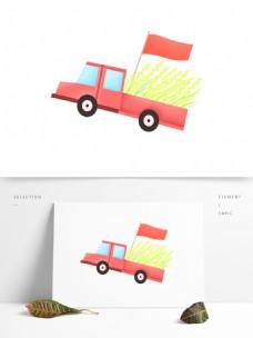 创意手绘汽车插画元素