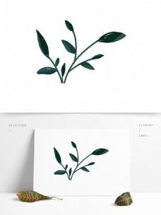 小清新绿色叶子素材可商用