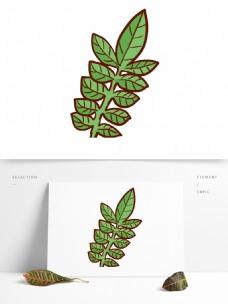小清新绿色叶子免抠素材