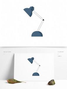 简约手绘台灯透明素材