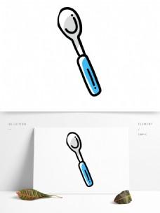 手绘卡通汤匙png元素