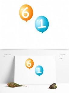61喜庆气球卡通透明素材