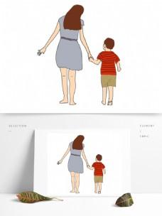 母亲节手绘人物节日素材