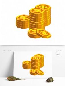 简约扁平金币金钱
