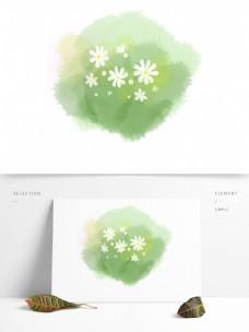 小清新手绘植物白花小雏菊