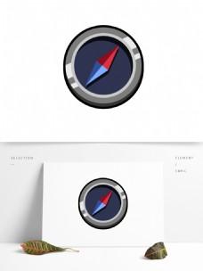 简约时尚矢量指南针图标icon